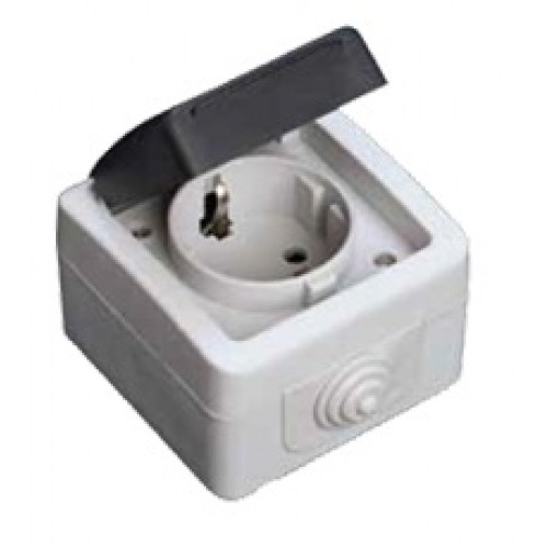 Tomada exterior com tampa ip54 fichas electricas for Enchufes para exterior