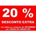 20% DE DESCONTO EXTRA EM TODAS AS COMPRAS DE SETEMBRO 2017
